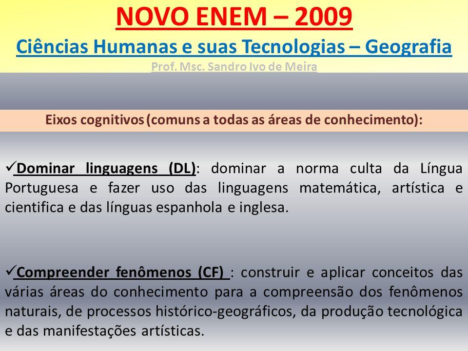 Eixos cognitivos (comuns a todas as áreas de conhecimento):