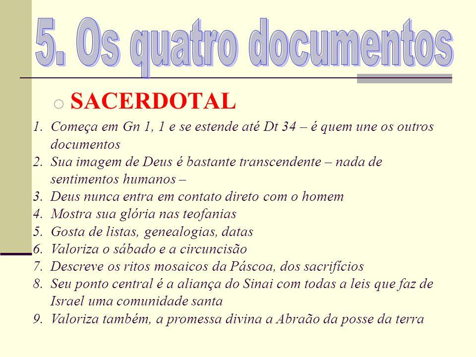 5. Os quatro documentos SACERDOTAL