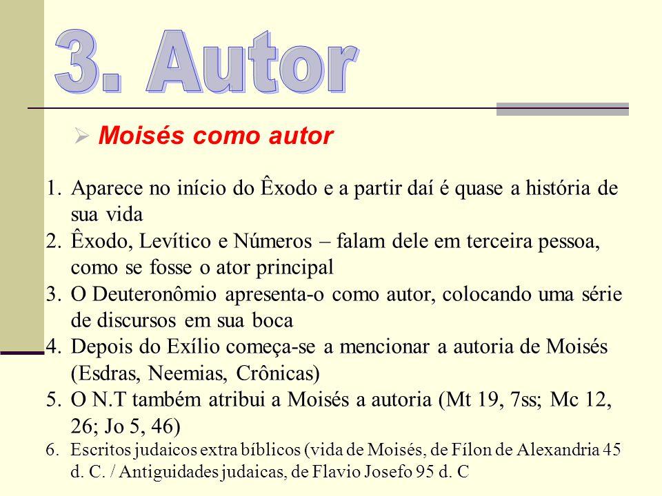 3. Autor Moisés como autor