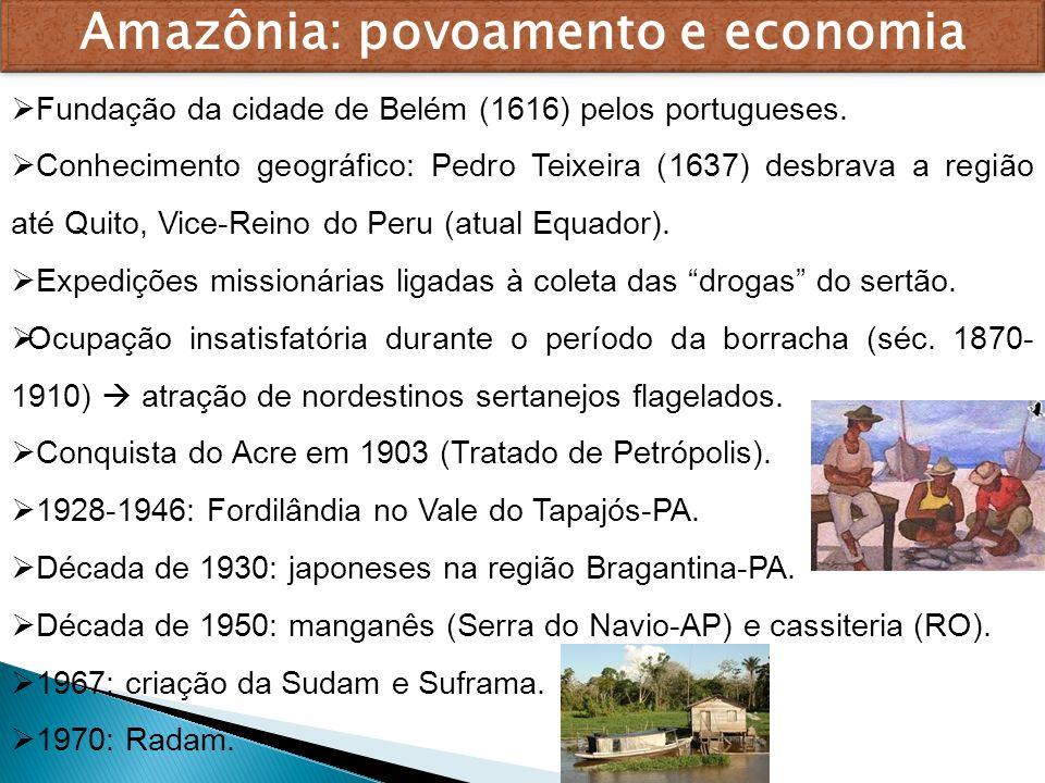 Amazônia: povoamento e economia