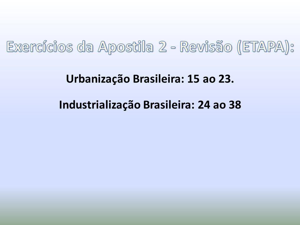 Exercícios da Apostila 2 - Revisão (ETAPA):