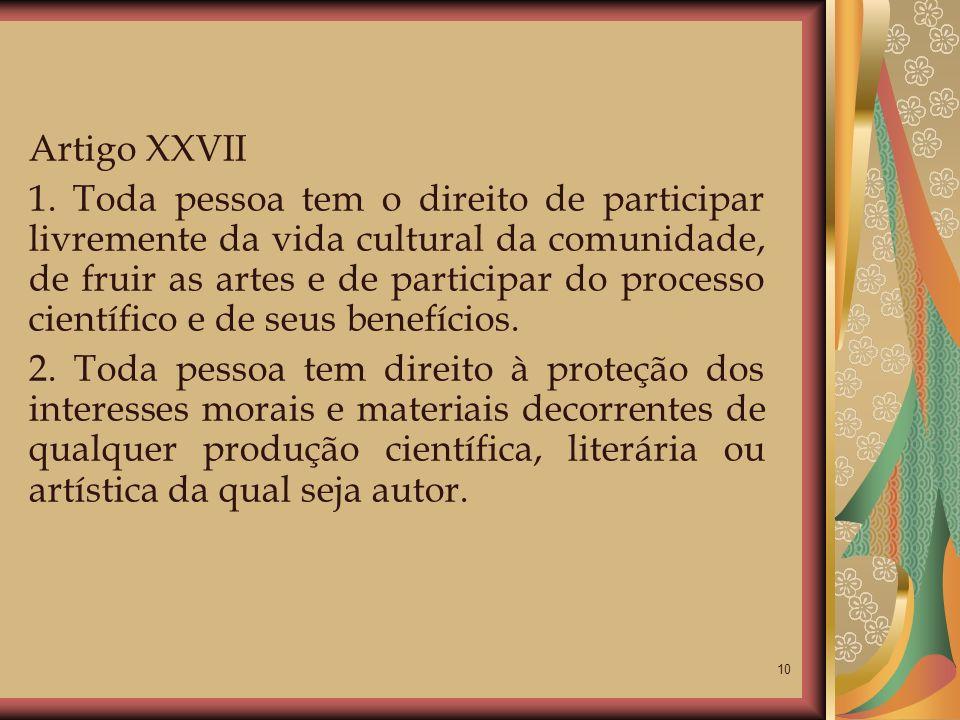 Artigo XXVII