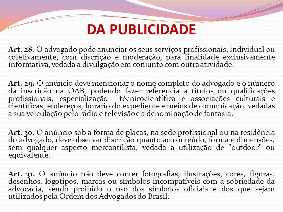 DA PUBLICIDADE