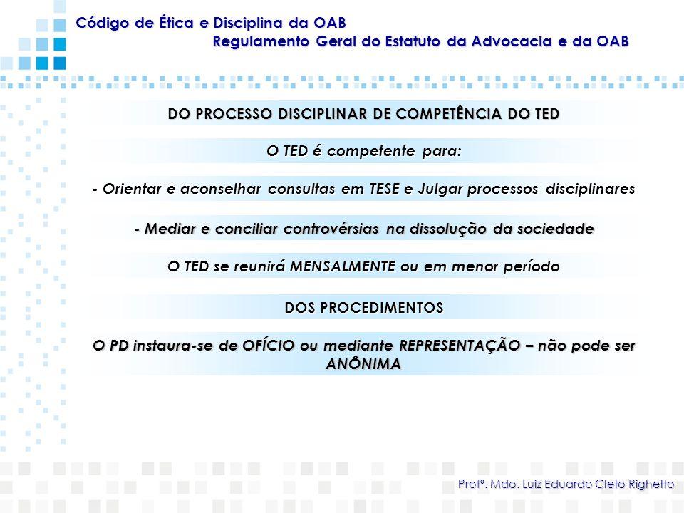 Código de Ética e Disciplina da OAB