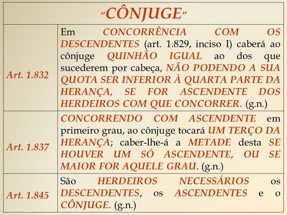 CÔNJUGE Art. 1.832.