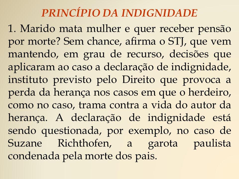 PRINCÍPIO DA INDIGNIDADE 1