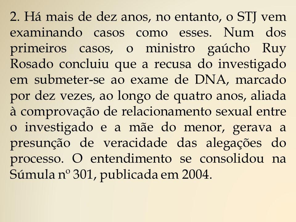 2. Há mais de dez anos, no entanto, o STJ vem examinando casos como esses.