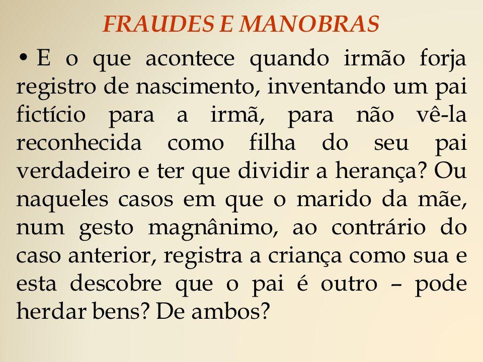 FRAUDES E MANOBRAS