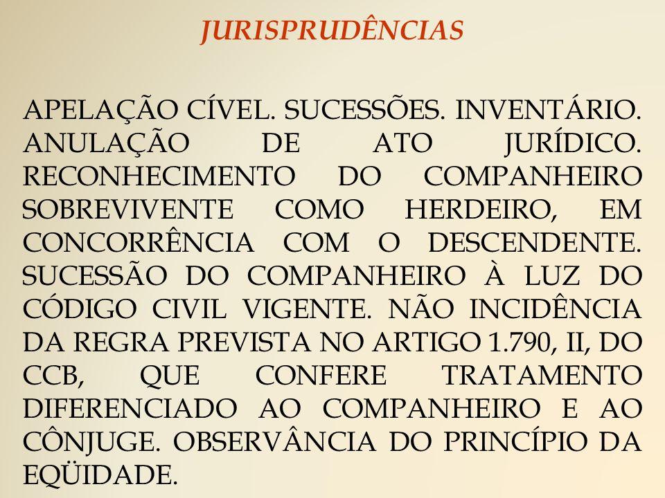 JURISPRUDÊNCIAS APELAÇÃO CÍVEL. SUCESSÕES. INVENTÁRIO