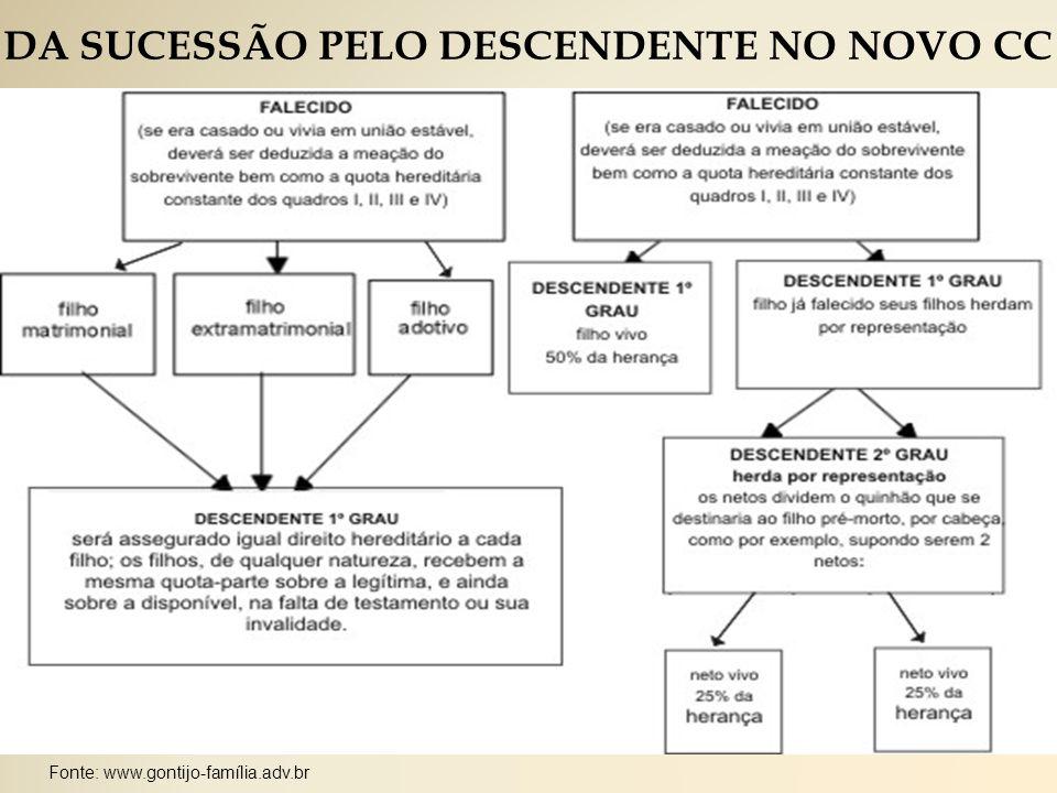 DA SUCESSÃO PELO DESCENDENTE NO NOVO CC
