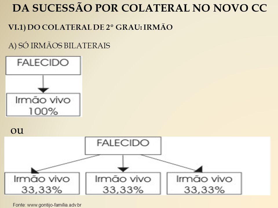 DA SUCESSÃO POR COLATERAL NO NOVO CC