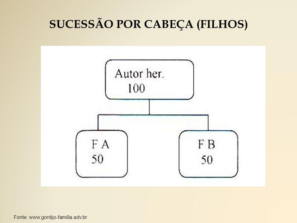 SUCESSÃO POR CABEÇA (FILHOS)