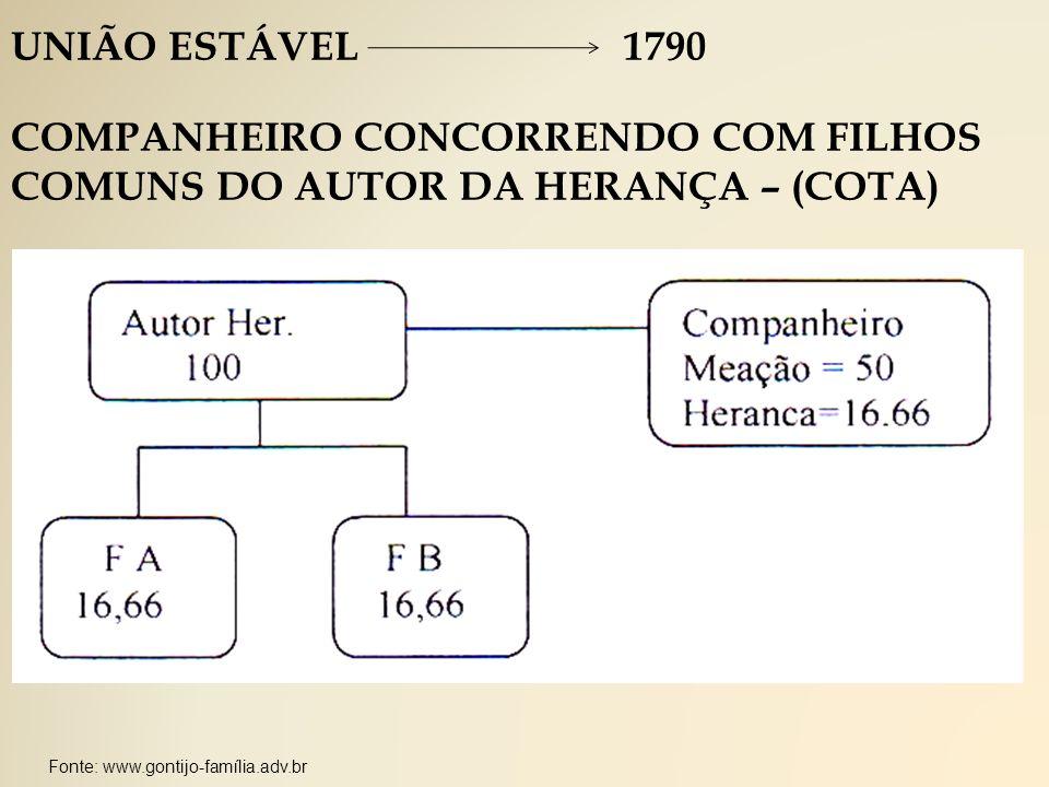 COMPANHEIRO CONCORRENDO COM FILHOS COMUNS DO AUTOR DA HERANÇA – (COTA)