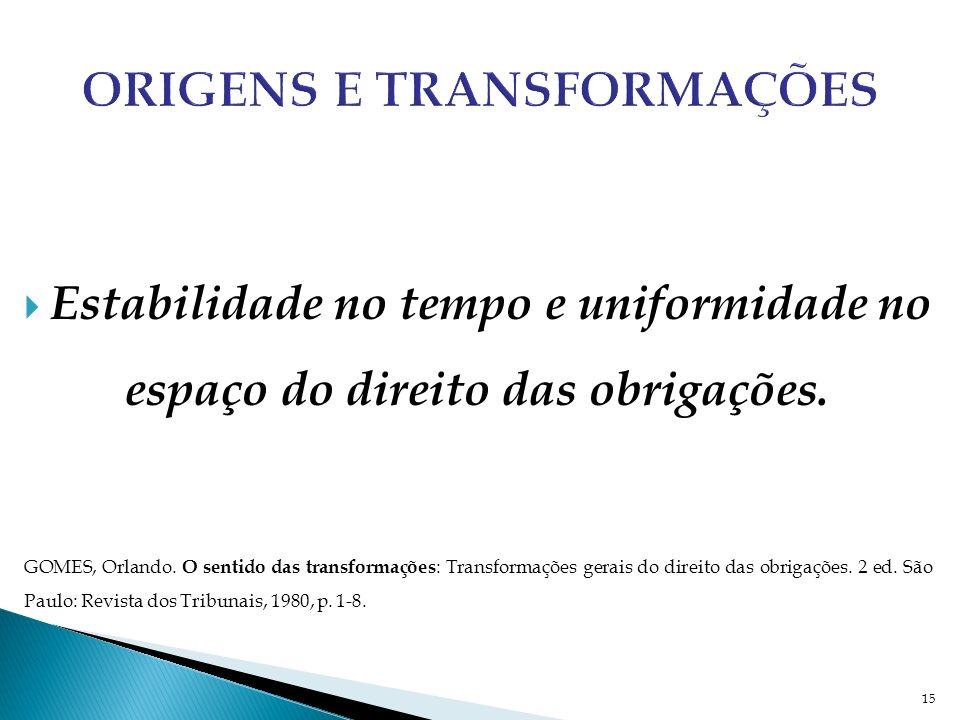 Origens e Transformações