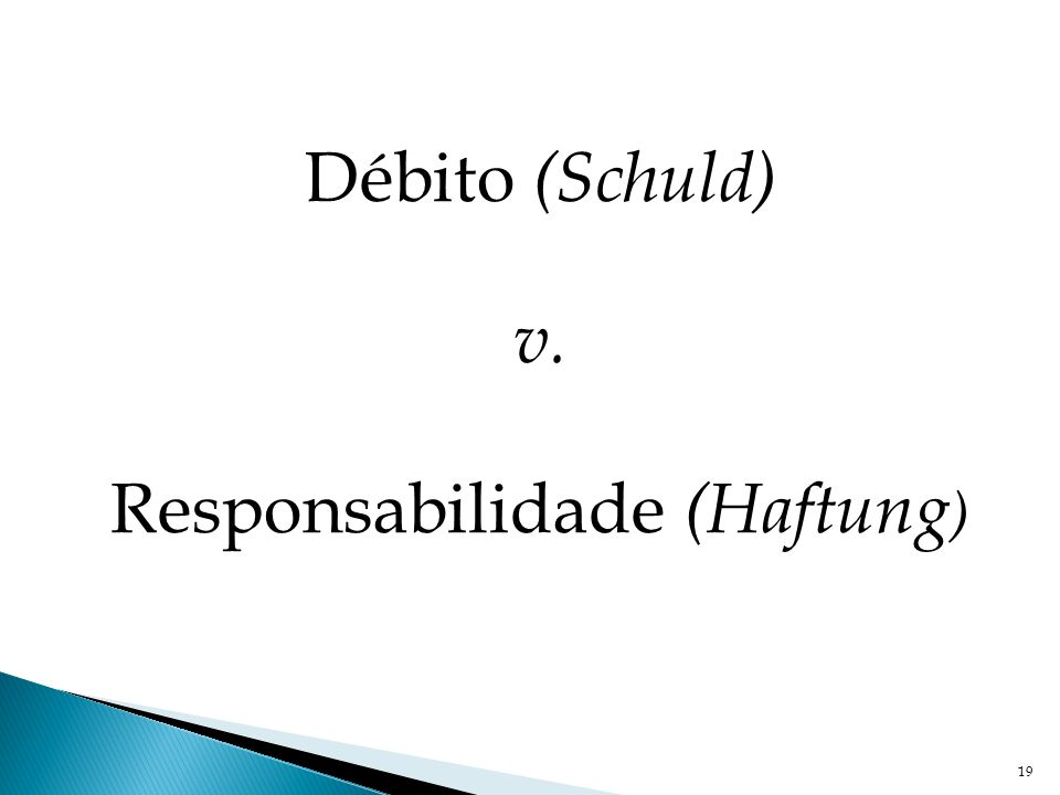 Responsabilidade (Haftung)