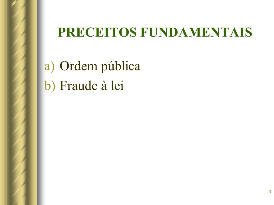 PRECEITOS FUNDAMENTAIS