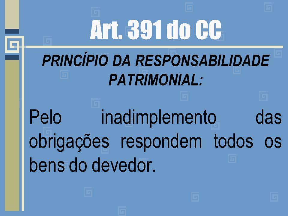 PRINCÍPIO DA RESPONSABILIDADE PATRIMONIAL: