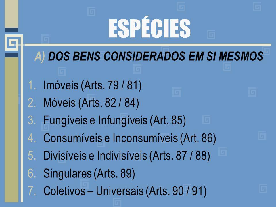 A) DOS BENS CONSIDERADOS EM SI MESMOS