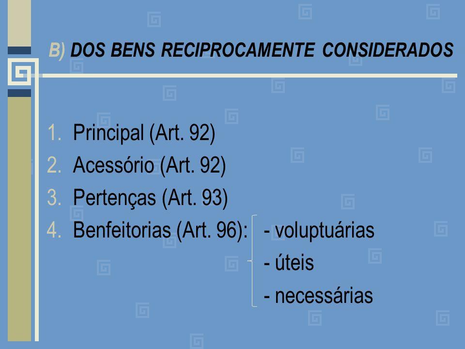 B) DOS BENS RECIPROCAMENTE CONSIDERADOS