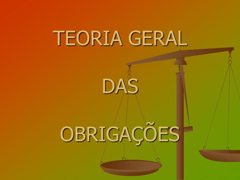 TEORIA GERAL DAS OBRIGAÇÕES