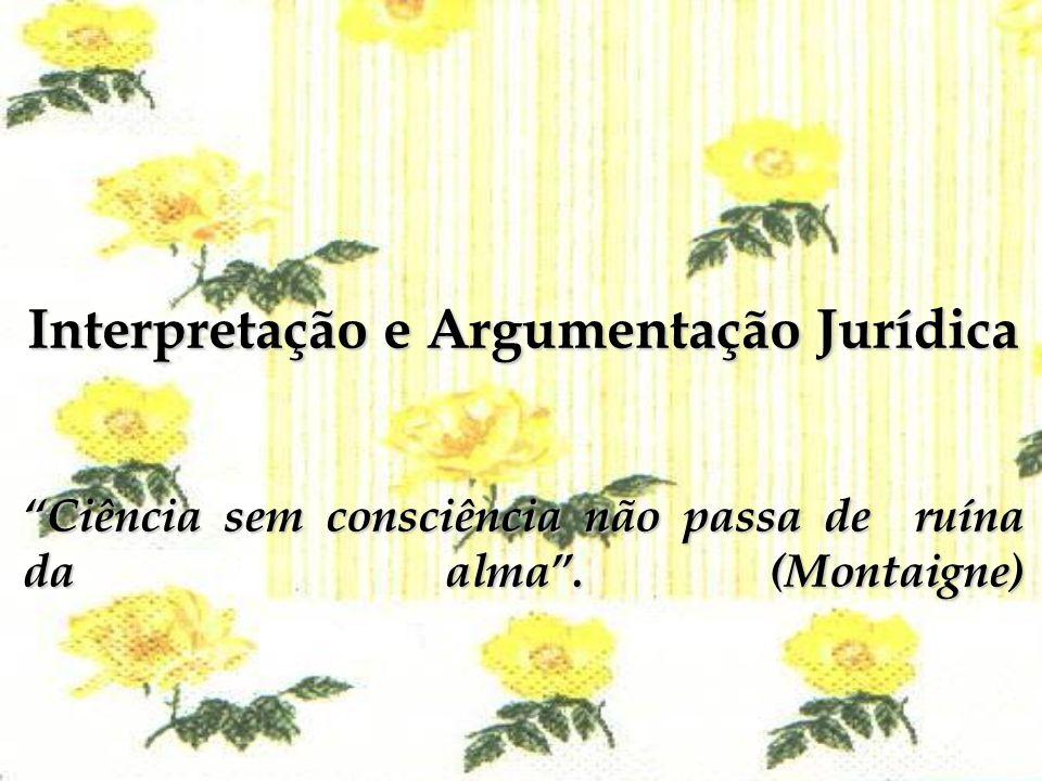 Interpretação e Argumentação Jurídica