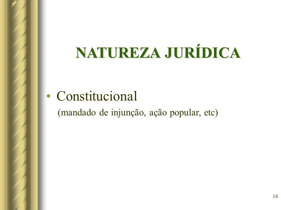 NATUREZA JURÍDICA Constitucional