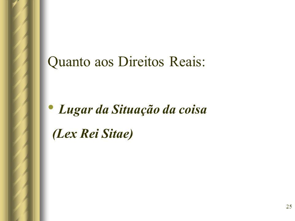 Lugar da Situação da coisa (Lex Rei Sitae)