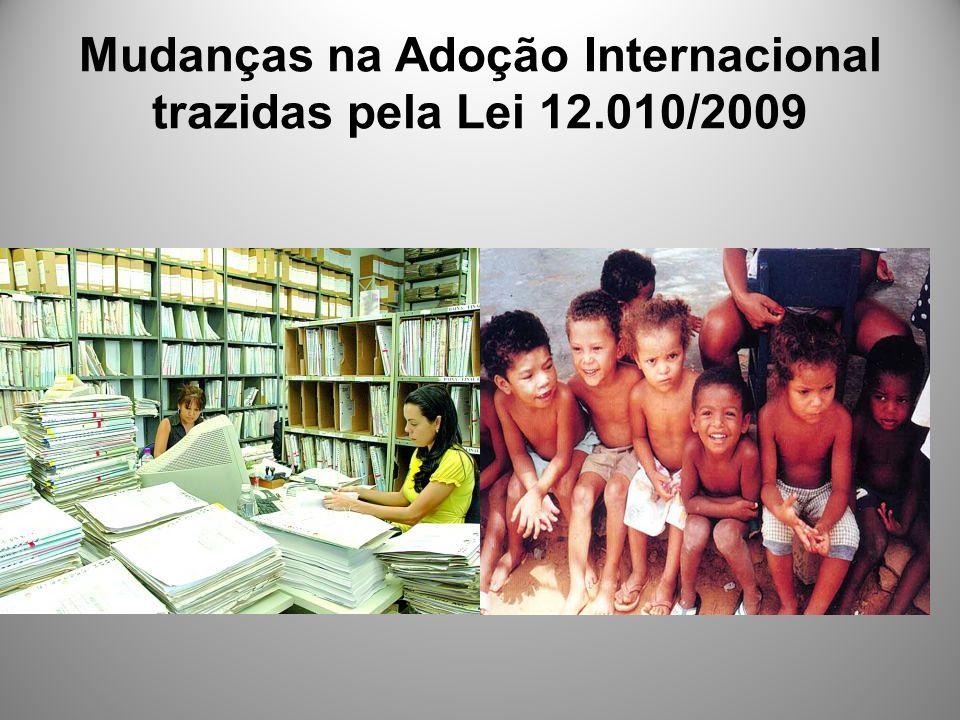 Mudanças na Adoção Internacional trazidas pela Lei 12.010/2009
