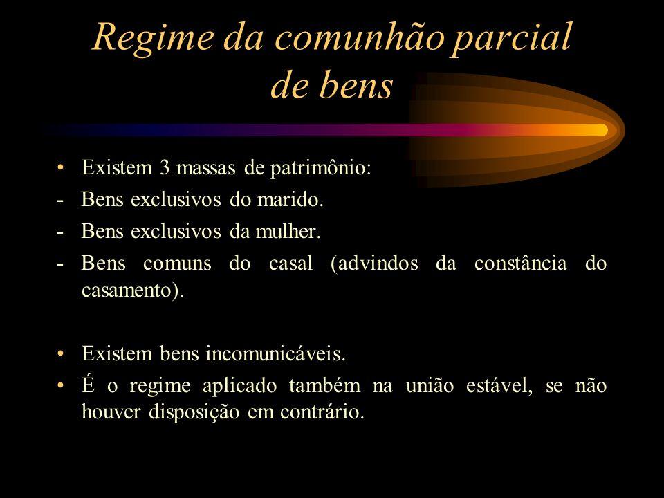 Regime da comunhão parcial de bens