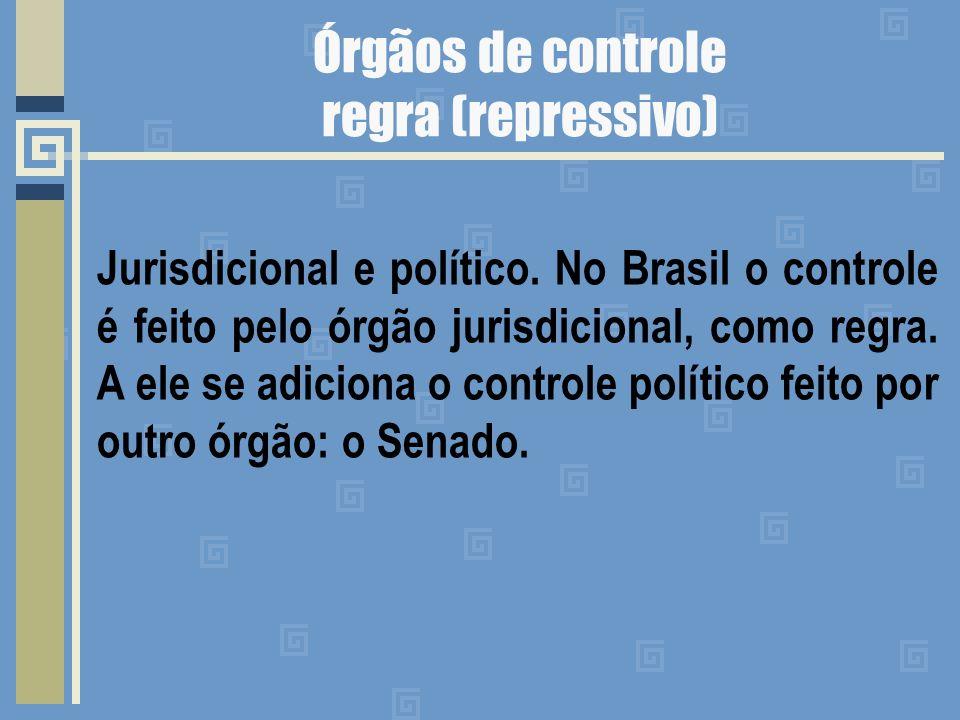 Órgãos de controle regra (repressivo)