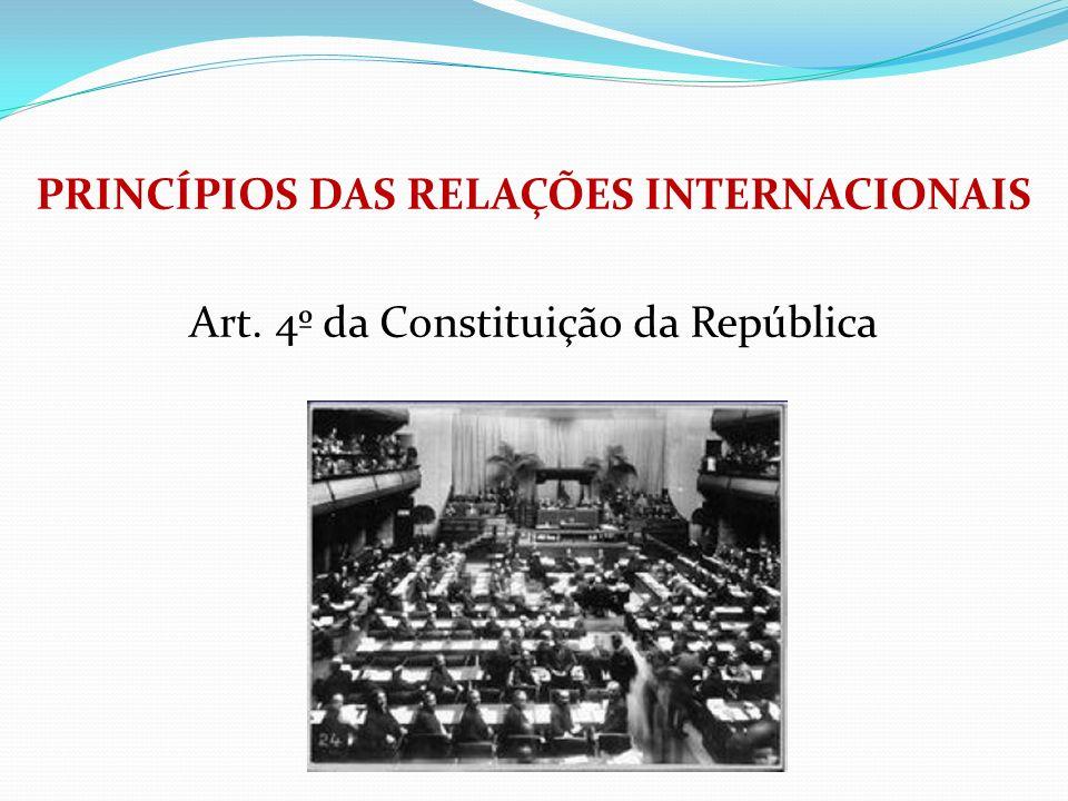 PRINCÍPIOS DAS RELAÇÕES INTERNACIONAIS Art