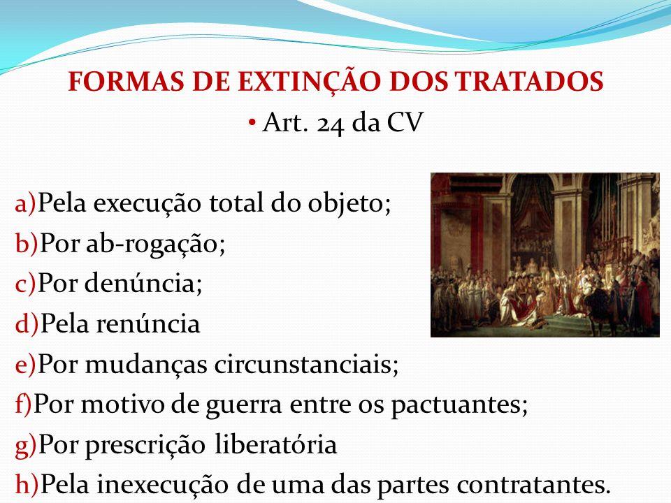 FORMAS DE EXTINÇÃO DOS TRATADOS