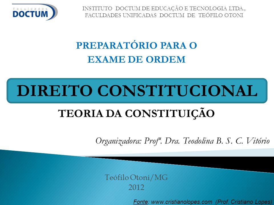 TEORIA DA CONSTITUIÇÃO DIREITO CONSTITUCIONAL