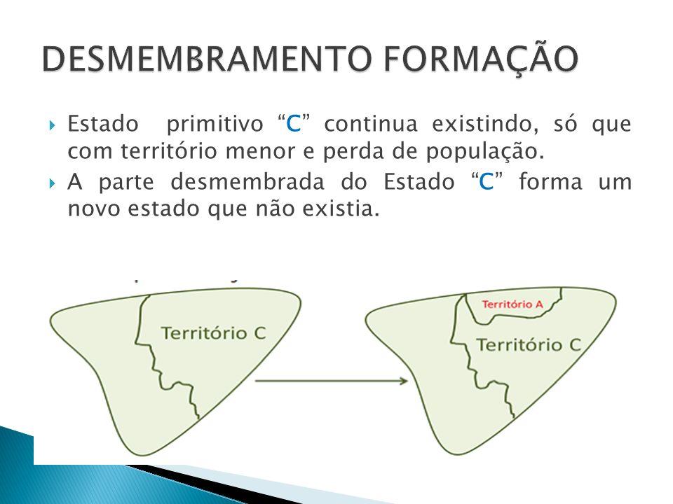 DESMEMBRAMENTO FORMAÇÃO