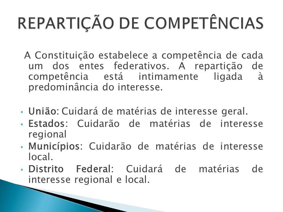 REPARTIÇÃO DE COMPETÊNCIAS