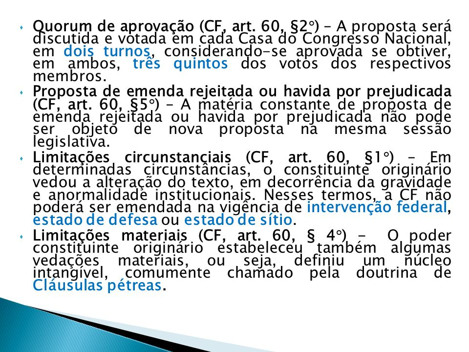 Quorum de aprovação (CF, art
