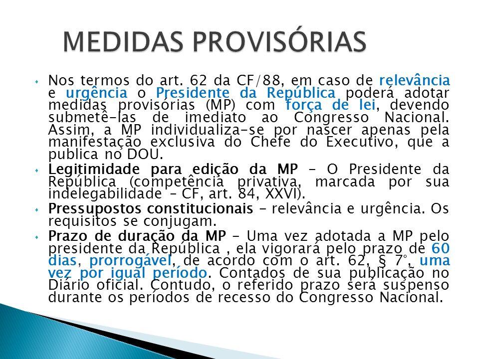 MEDIDAS PROVISÓRIAS