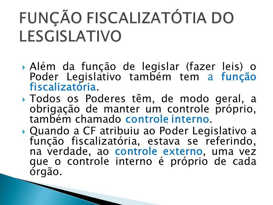 FUNÇÃO FISCALIZATÓTIA DO LESGISLATIVO