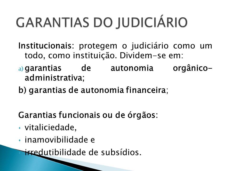 GARANTIAS DO JUDICIÁRIO