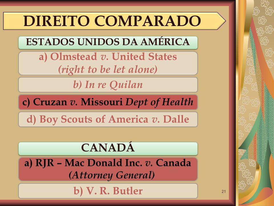 DIREITO COMPARADO CANADÁ a) Olmstead v. United States