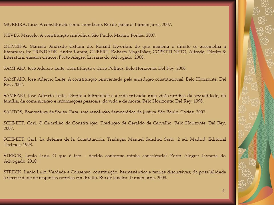 MOREIRA, Luiz. A constituição como simulacro