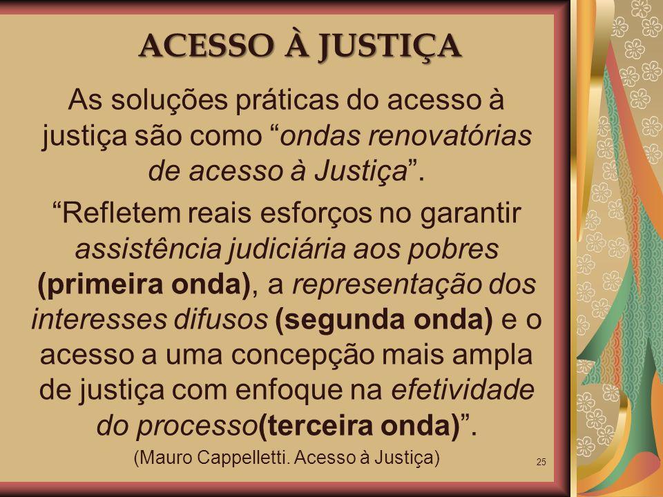 (Mauro Cappelletti. Acesso à Justiça)