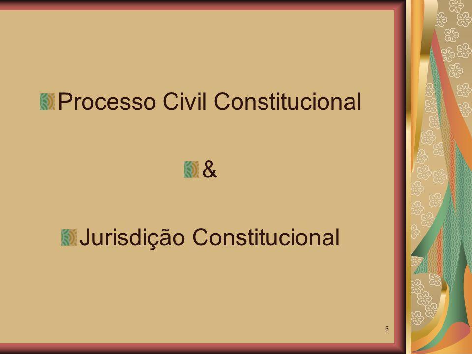 Processo Civil Constitucional & Jurisdição Constitucional