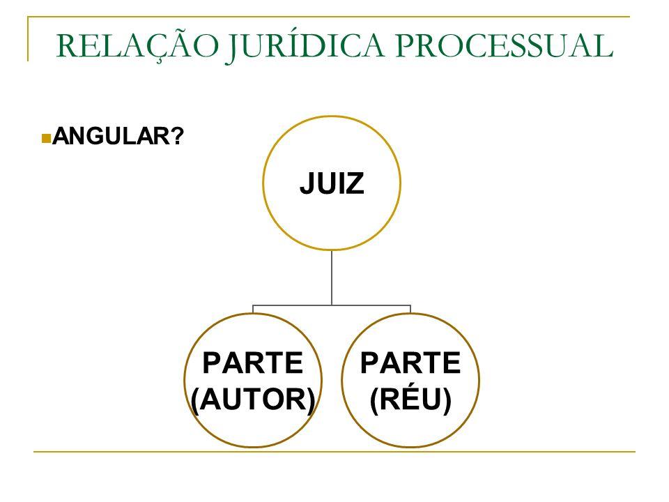 RELAÇÃO JURÍDICA PROCESSUAL
