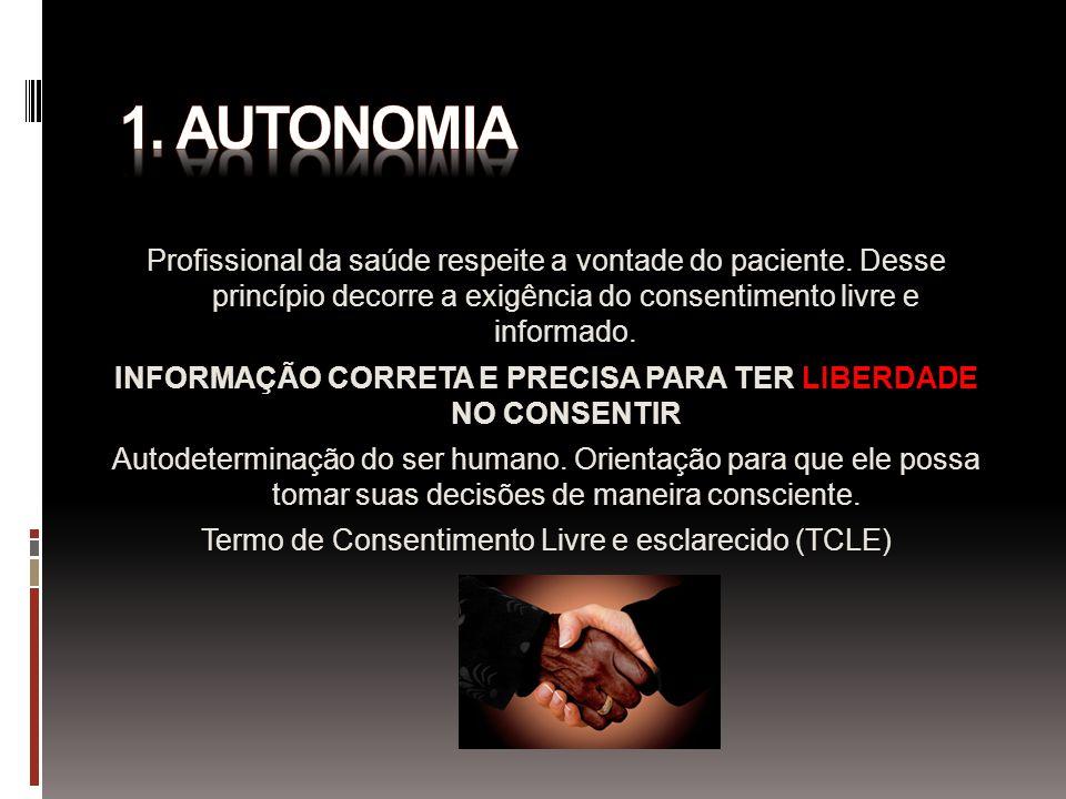 INFORMAÇÃO CORRETA E PRECISA PARA TER LIBERDADE NO CONSENTIR