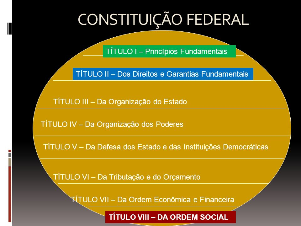 CONSTITUIÇÃO FEDERAL TÍTULO I – Princípios Fundamentais