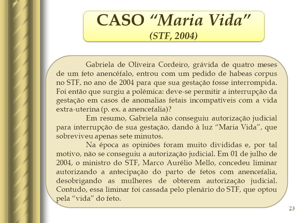 CASO Maria Vida (STF, 2004)
