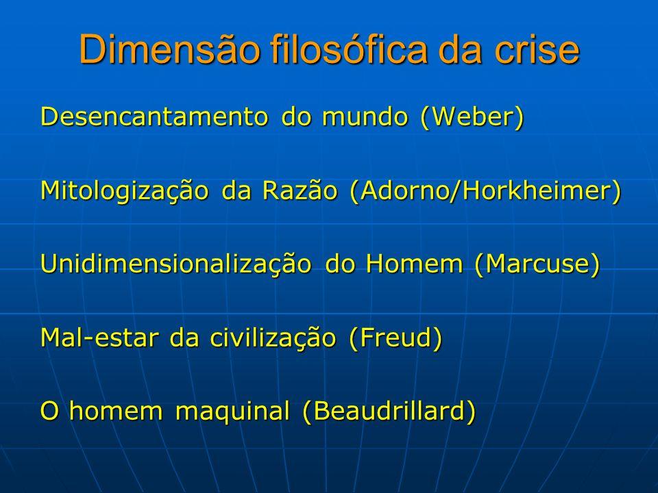Dimensão filosófica da crise