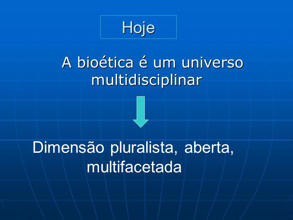 Hoje Dimensão pluralista, aberta, multifacetada
