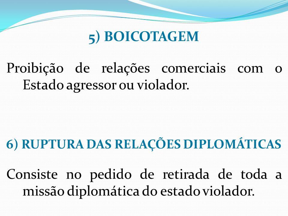 6) RUPTURA DAS RELAÇÕES DIPLOMÁTICAS